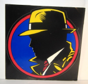 "DICK TRACY - PROMO 12""x 12"" STICKER"